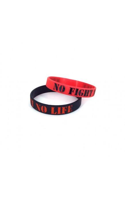 Opaska silikonowa na rękę KSW z hasłem no fight no life