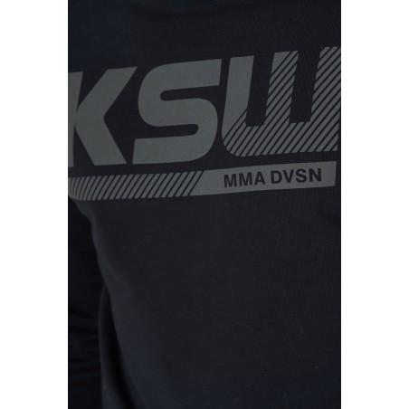 Nadruk na bluzie czarnej bez kaptura KSW BLACKEST BLACK nierozpinanej czarnej