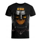 T shirt męski KSW MAD VIKING czarny z motywem vikinga