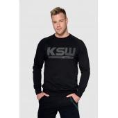 Bluza bez kaptura KSW BLACKEST BLACK czarna nierozpinana z nadrukiem