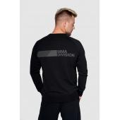 Bluza bez kaptura KSW BLACKEST BLACK czarna nierozpinana z nadrukiem tył