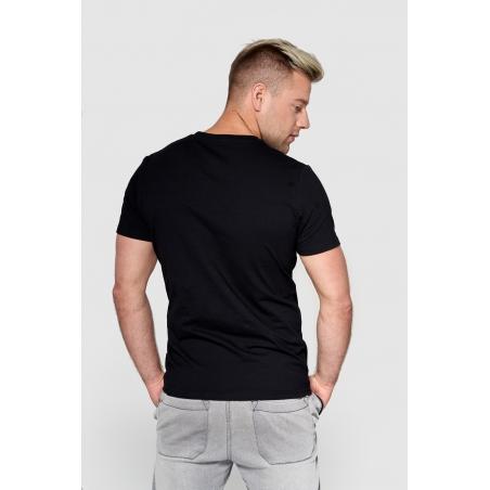 T shirt męski KSW MAD VIKING czarny z motywem vikinga tył
