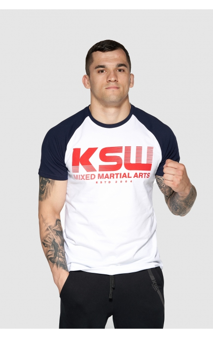 T-shirt biały KSW CLASSIC 2