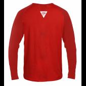 Longsleeve męski czerwony KSW z czarno-białymi nadrukami tył