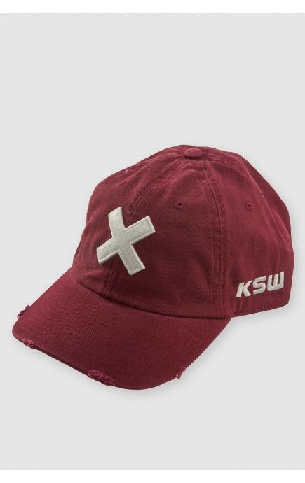 Burgundy baseball cap KSW...