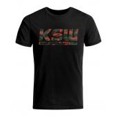 T shirt męski KSW MORO czarny z nadrukiem