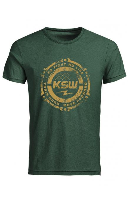 T-shirt zielony KSW CAGE