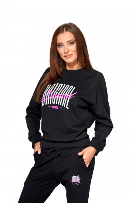 Black hoodie KSW ORIGINAL