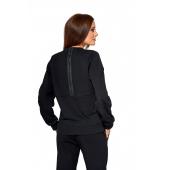 Bluza damska KSW ORIGINAL z nadrukiem czarna z suwakiem na plecach tył