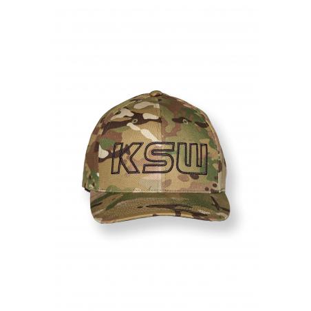 Czapka FLEXFIT KSW moro z haftowanym logo