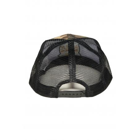 Czapka Snapback KSW CAMO z prostym daszkiem haftowaną aplikacją i regulacją