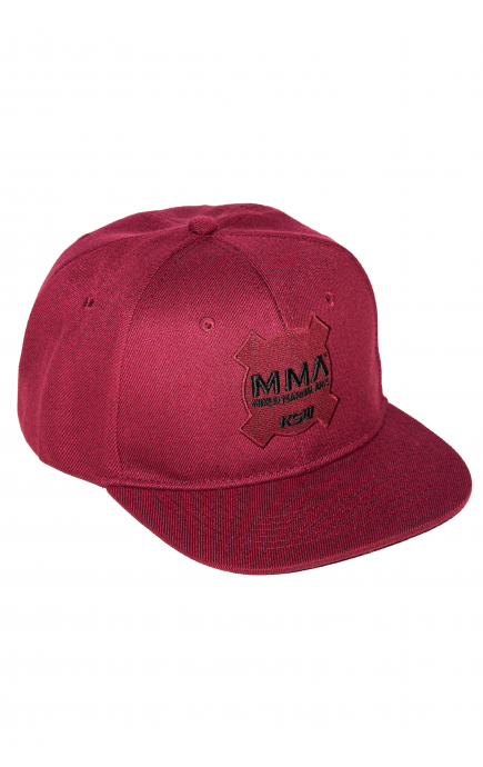 KSW Burgundy snapback cap
