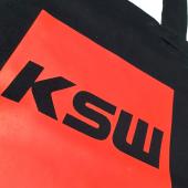 Nadruk na torbie bawełnianej KSW czarnej