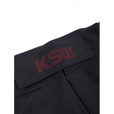 Logo KSW na rzepie spodenek MMA KSW LAST SAMURAJ czarnych
