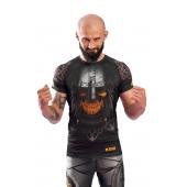 Rashguard męski z krótkim rękawem KSW MAD VIKING czarny z nadrukami
