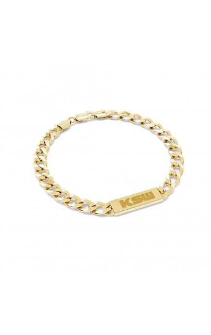 Silver curb chain bracelet...