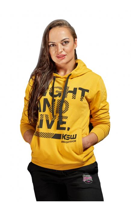 Bluza z kapturem żółta KSW...