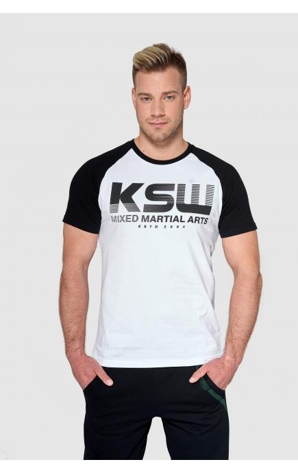 T-shirt biały KSW CLASSIC