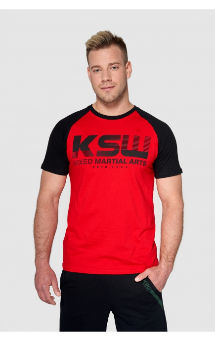 T-shirt czerwony KSW CLASSIC