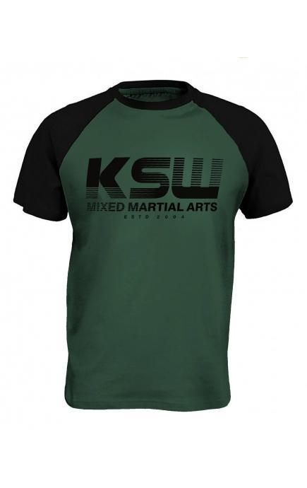 T-shirt zielony KSW CLASSIC
